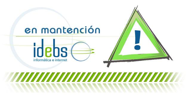 IDEBS - En mantención